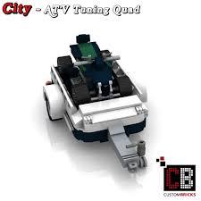 custom lego mini cooper custombricks de lego city anhänger fahrzeug trailer vehicle atv