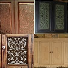 Ideas For Kitchen Cabinets Makeover - 20 diy cabinet door makeovers with furniture stencils diy