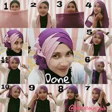 tutorial jilbab segi 4 untuk kebaya 30 tutorial hijab pashmina paris dua warna dua kerudung terbaru