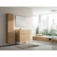 fabriquer meuble salle de bain beton cellulaire ensemble de meuble viena nebraska l 80 x h 85 x p 45 cm meuble