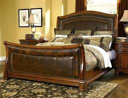 King Size Leather Sleigh Bed Sleigh Bed With Leather Headboard Sigong Info