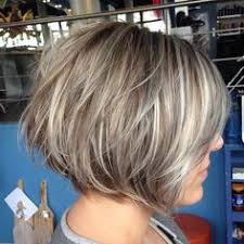 short stacked haircuts for fine hair that show front and back image result for transition to grey hair with highlights