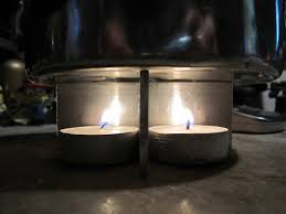 can tea light candles boil water