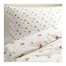 Roses Duvet Cover Amazon Com Ikea Emelina Knopp King Size Duvet Cover And 2