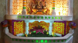 Home Ganpati Decoration Ganpati Decoration At Home 2012 Youtube