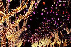 decorations lanterns illuminated to greet festival in china