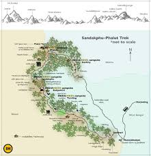 Himilayas Map Sandakphu And Phalut Trek Trekking In India Indiahikes