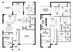 Floor Plan Two Storey House 6 Bedroom House Plans Perth Corepad Info Pinterest Perth