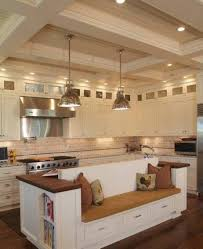 kitchen island with built in seating also trends images bench