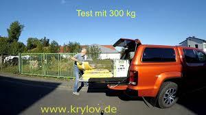 auto mit ladefläche vw amarok doublecab ausziehbare ladefläche test mit 300 kg www