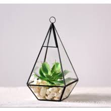 china manufacturer of home decor geometric glass terrarium hanging
