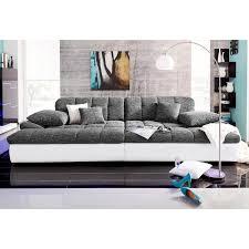 canapé design grand canapé design avec dossier réglable revêtement synthétique et