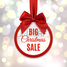 christmas sale big christmas sale banner with ribbon and bow isolated