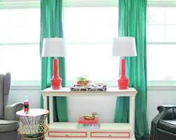 Emerald Green Drapes Frosting Home Decor Custom Curtains Pillows By Frostinghomedecor