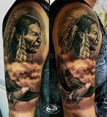 american indian tattoo on half sleeve tattoos book 65 000