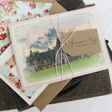 Customized Wedding Invitations Vellum Overlay Vintage Wedding Invitation Biltmore Estate