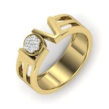 diamond ring for men design buy the platonic ring for men in 18k yellow gold with ij si diamonds