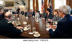 The Cabinet Members President Barack Obama Meets With Cabinet Members In The Cabinet