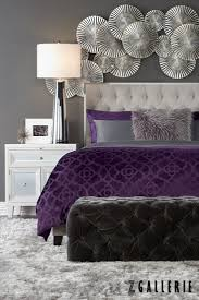 black silver and purple bedroom house design ideas