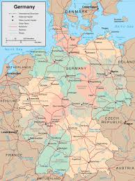 map of germany showing rivers map of germany maps of the federal republic of germany