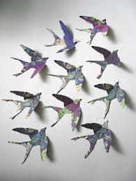 set of five birds of flight wall bird walls and interiors