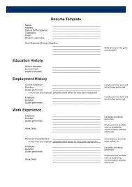 Resume Fill In The Blank Download Printable Resume Templates Haadyaooverbayresort Com