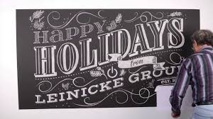 leinicke group s chalk lettering holiday card youtube