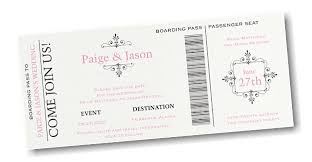 Boarding Pass Save The Date Pass Save The Date Card