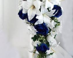 blue wedding bouquets blue wedding bouquet etsy