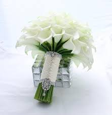 calla lilies bouquet bridal bouquet real touch white mini calla wedding
