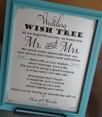 wishing tree sayings wedding wish tree leave your advice for the new mr and mrs