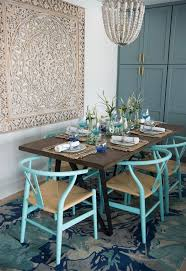 dining room with two toned walls dining room in suburban h two