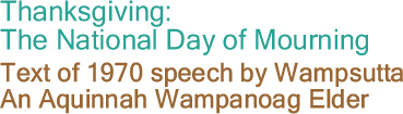 the black commentator thanksgiving the national day of mourning