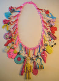 s charm bracelet plastic 80 s charm necklace my actually let me wear this for