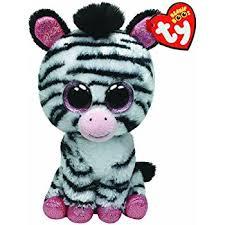 amazon ty beanie boos izzy zebra justice exclusive toys