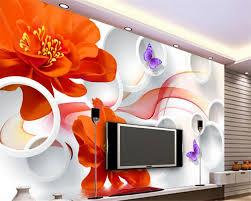 wallpaper bunga lingkaran bonus beibehang 3d wallpaper hd gaya wallpaper air naik kupu kupu