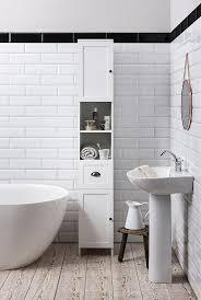 stow tallboy bathroom cabinet hallway storage unit in white noa