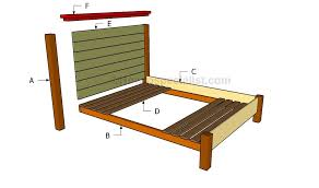 Platform Bed Woodworking Plans Queen by Bed Frame Wood Queen Bed Frame Plans Diy Platform Bed Wood Queen