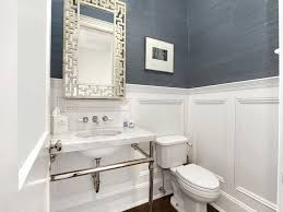 Navy Blue Bathroom by Grasscloth Wallpaper Bathroom Descargas Mundiales Com