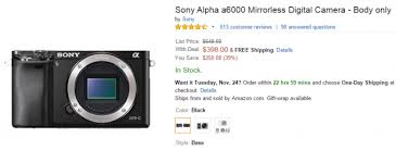 sony camera black friday sony a6000 bundle deals cheapest price mirrorless deal part 3