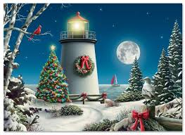 winter lighthouse cards current catalog within