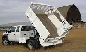 flatbed crane dump truck