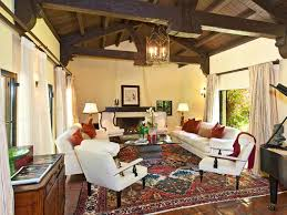 Spanish Home Interiors Living Room With Amazing Ceiling And Lantern Wallace Neff