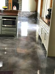 gray brown stained kitchen cabinets stained concrete flooring tulsa
