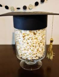 classy graduation party treats ideas in black gold and silver