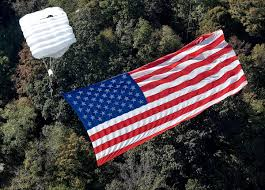 Americain Flag West Virginia Skydiver Wows Crowd With American Flag Bridge Day