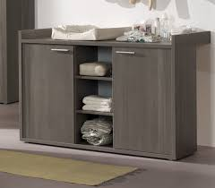 commode chambre bébé commode à langer contemporaine coloris bouleau gris luca commode