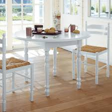 table cuisine ronde blanche table ronde 2 abattants 4 chaises blanche anniversaire