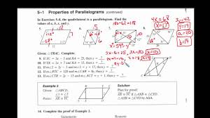 properties of parallelograms worksheet 5 1 properties of parallelograms page 2