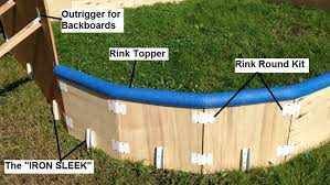 Backyard Rink Ideas Backyard Rink Parts Iron Sleek